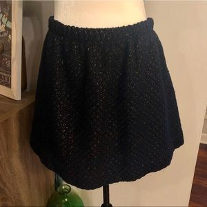 Dresses & Skirts - <QMack> Navy Blue & Gold Metallic Knit Skirt